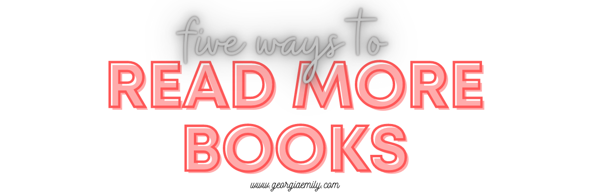 Five ways to read more books