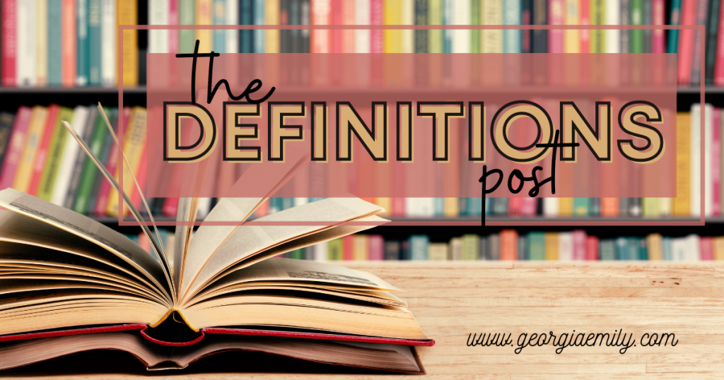 The Definitions Post